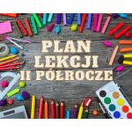 plan lekcji ii półrocze